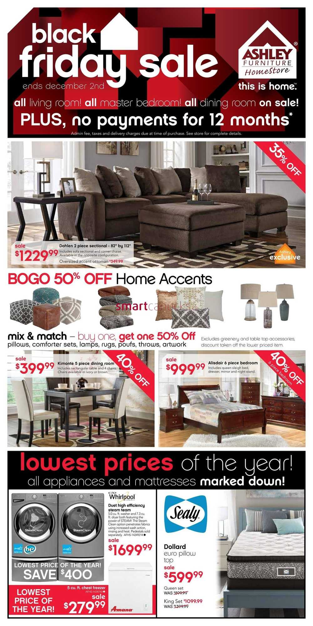 Ashley Furniture Home Store West Black Friday Flyer November 26 To December 2
