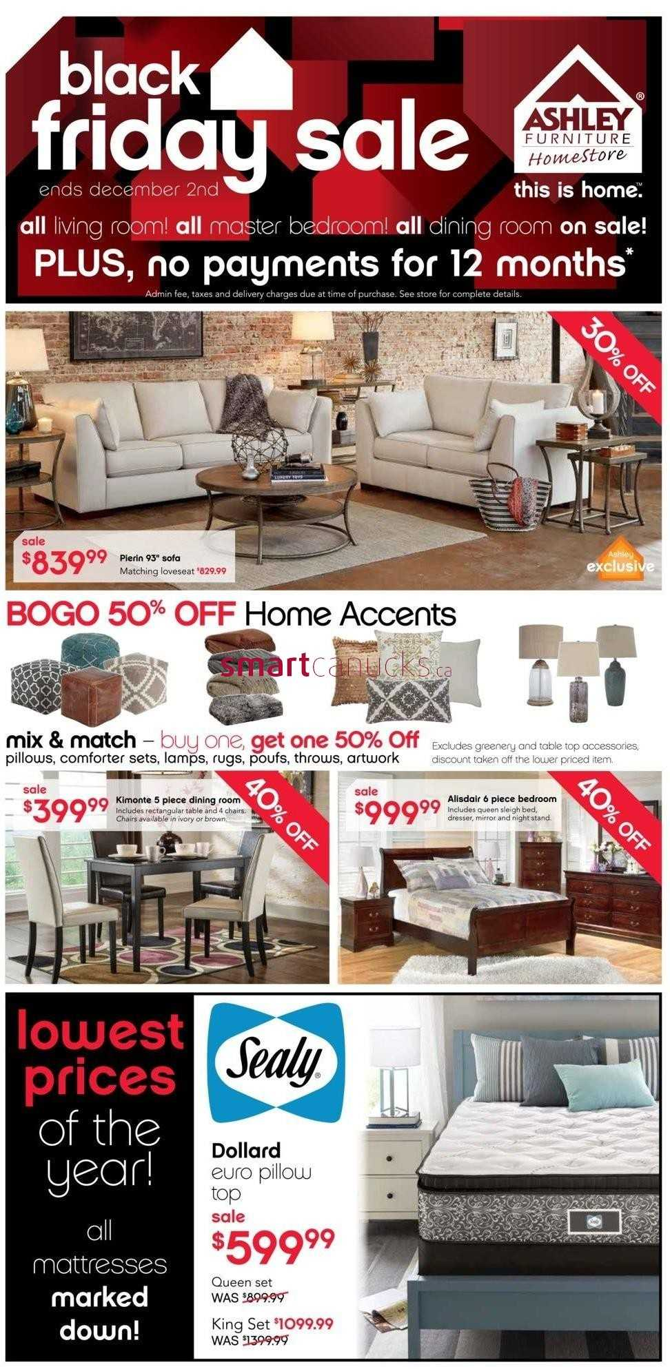 Ashley Furniture Home Store  ON  Black Friday Flyer November 26 to. Black Friday Deals On Ashley Furniture    It s All Furnitures