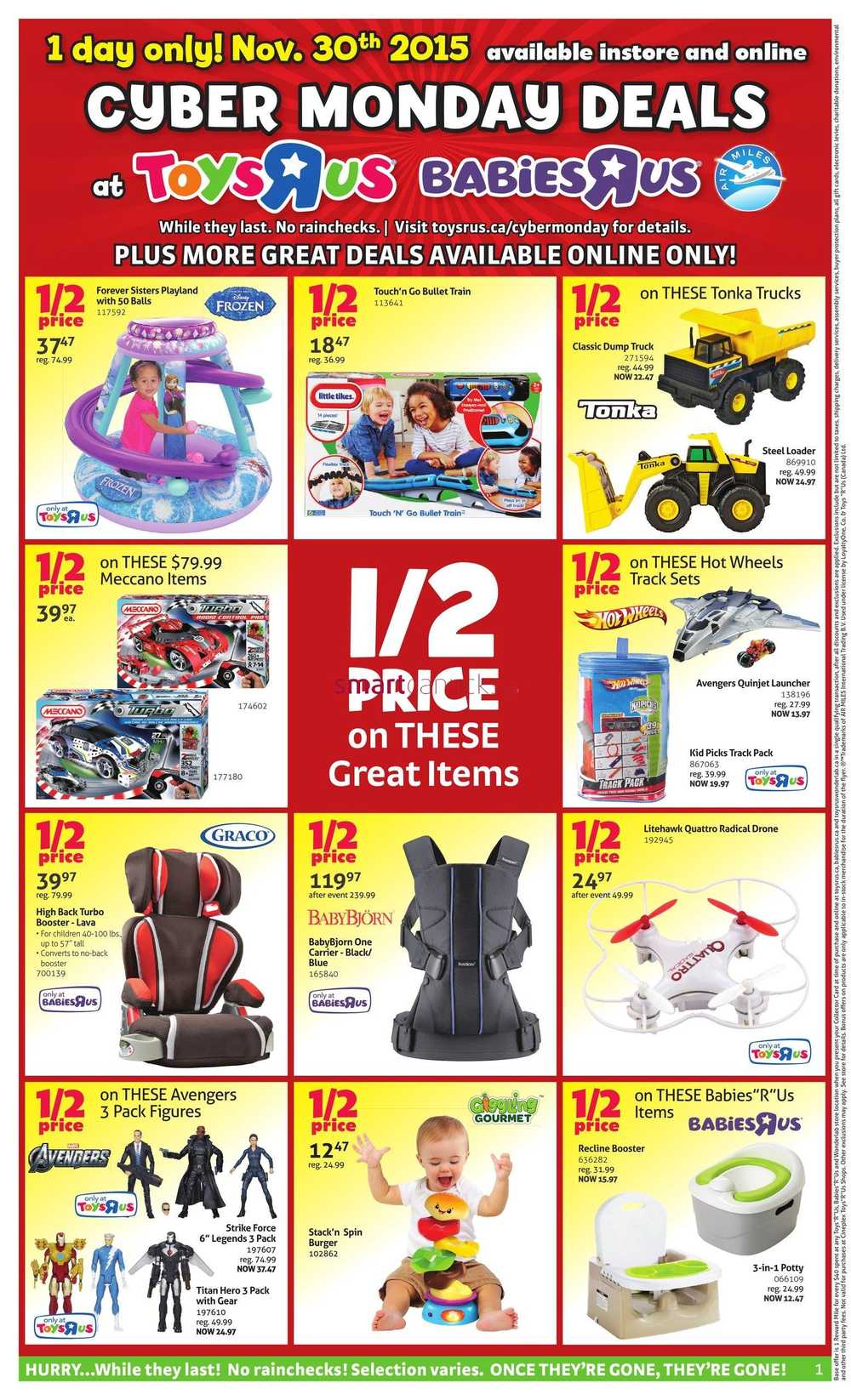 toys r us cyber monday sale flyer 2015