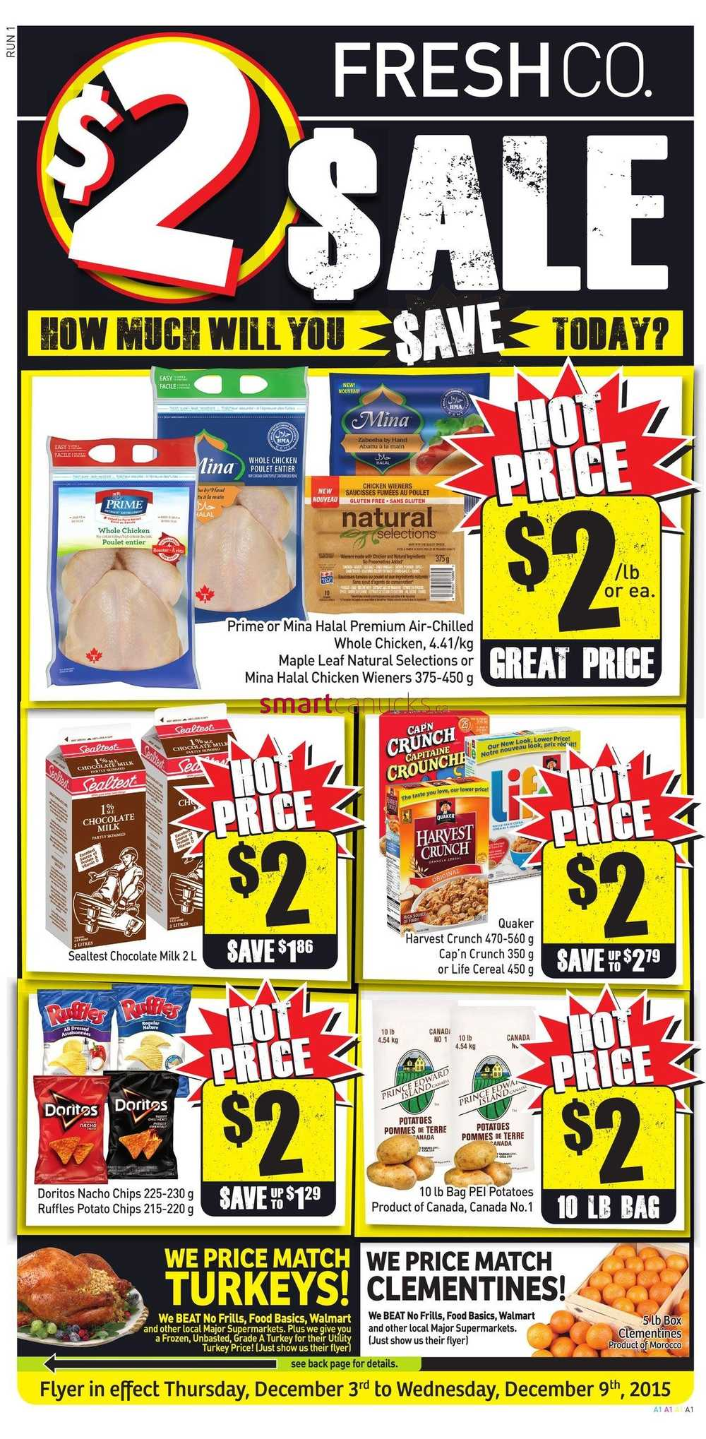 FreshCo Canada Weekly Flyers: Thursday, December 3 To