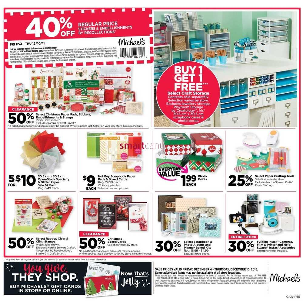 Michaels flyer december 4 to 10 for Call michaels arts and crafts