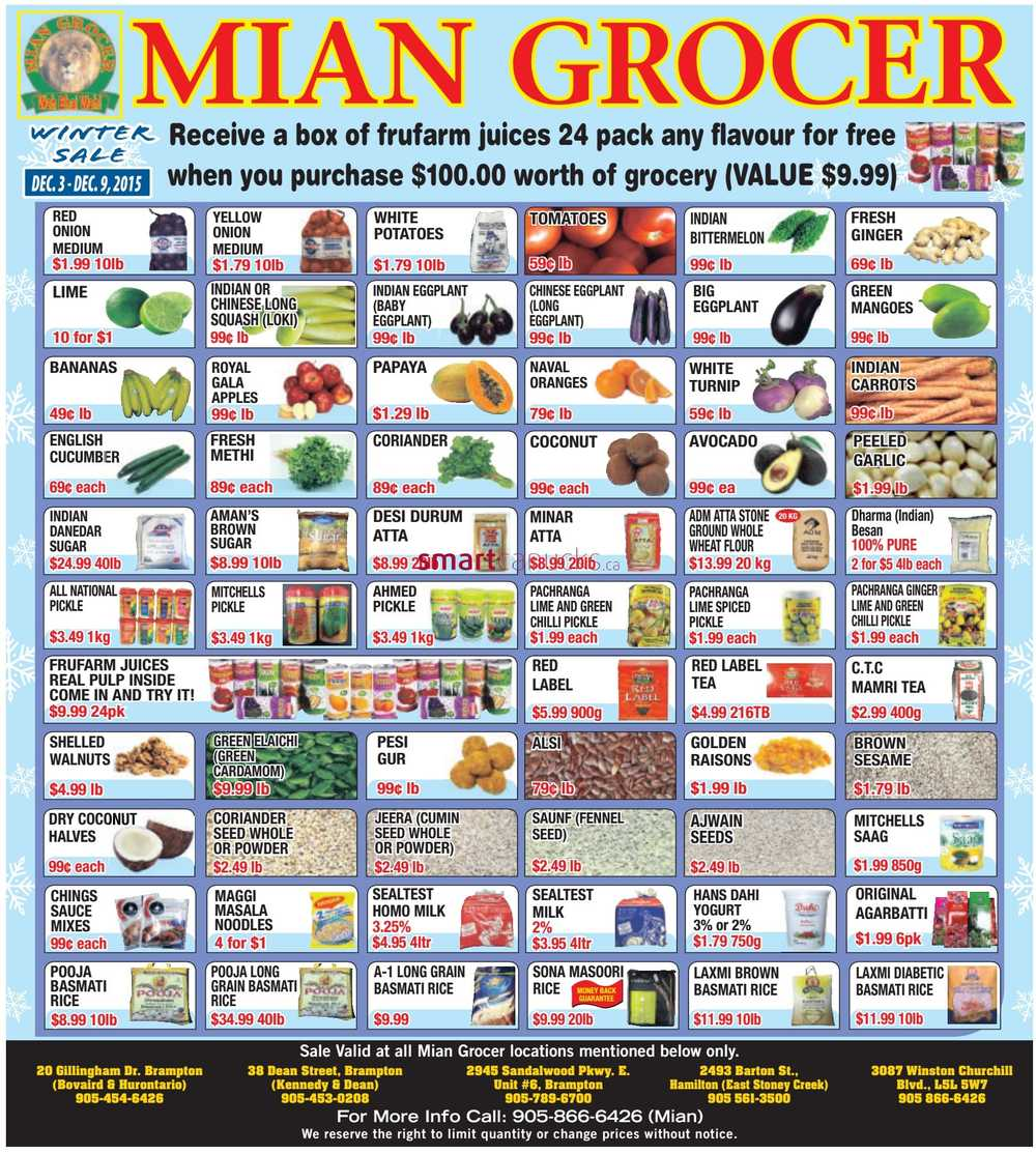 Mian Grocer Flyer December 3 To 9