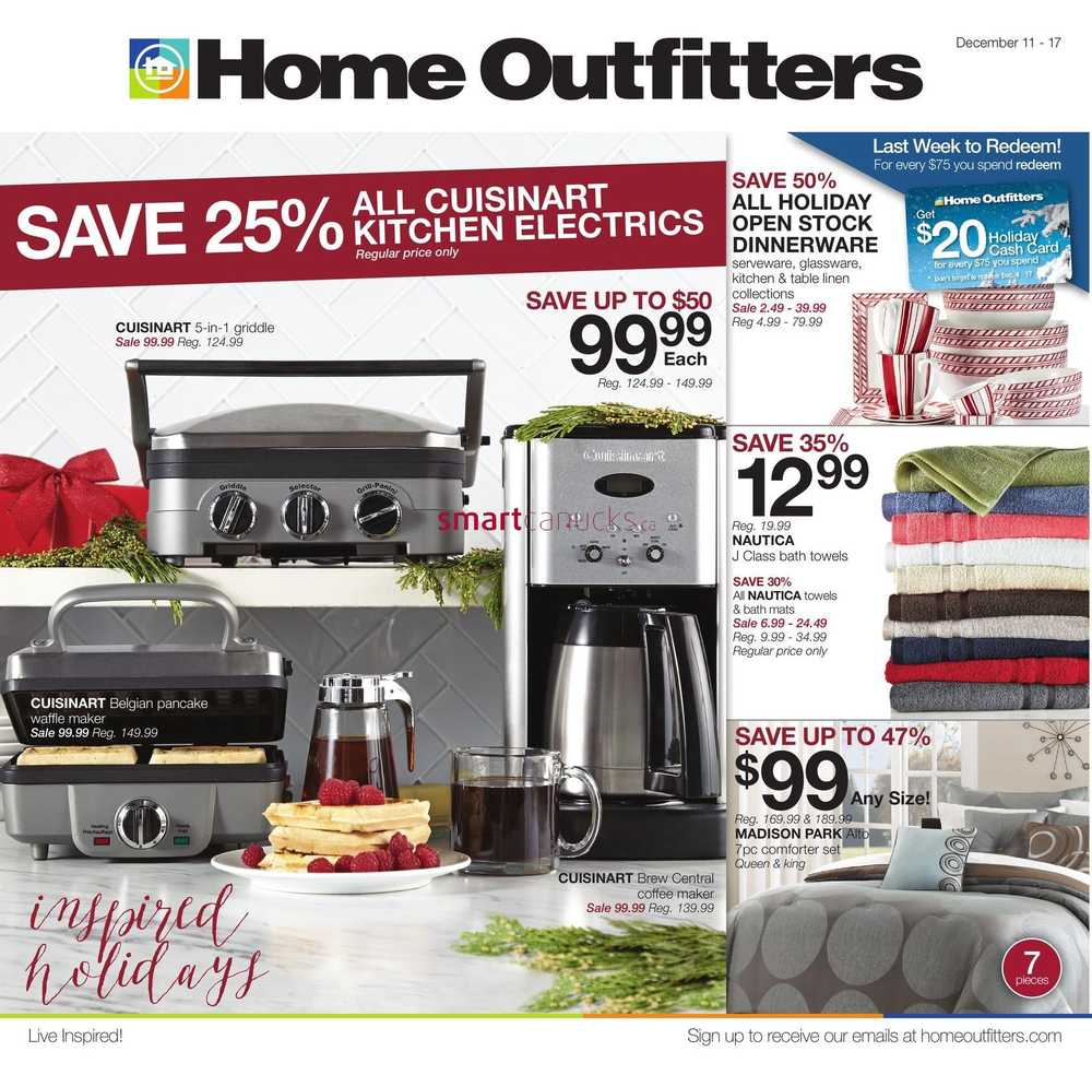 sc 1 st  Smart Canucks & Home Outfitters Flyer December 11 to 17