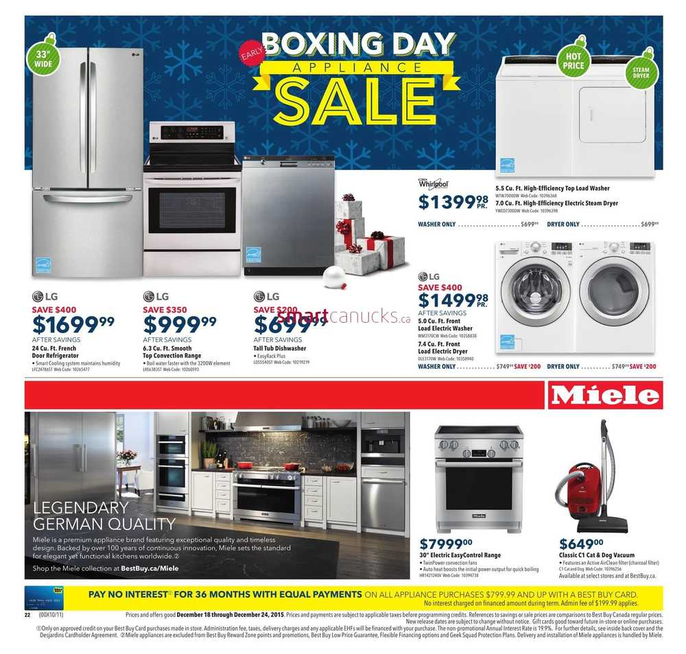Best Buy Early Boxing Day Appliance Sale Flyer December 18 to 24