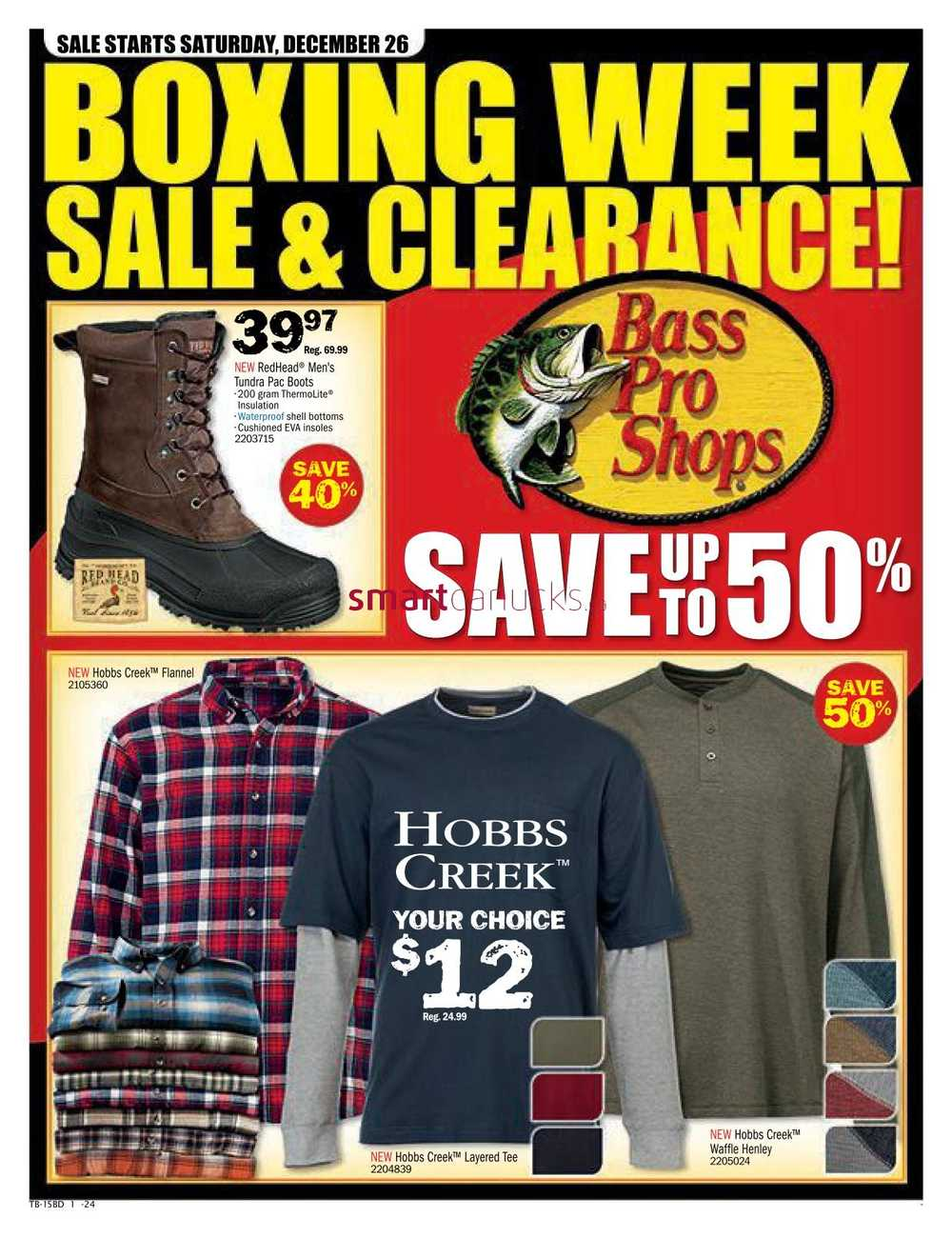 Bass Pro Shops Boxing Week Sale Flyer December 26 to January 3
