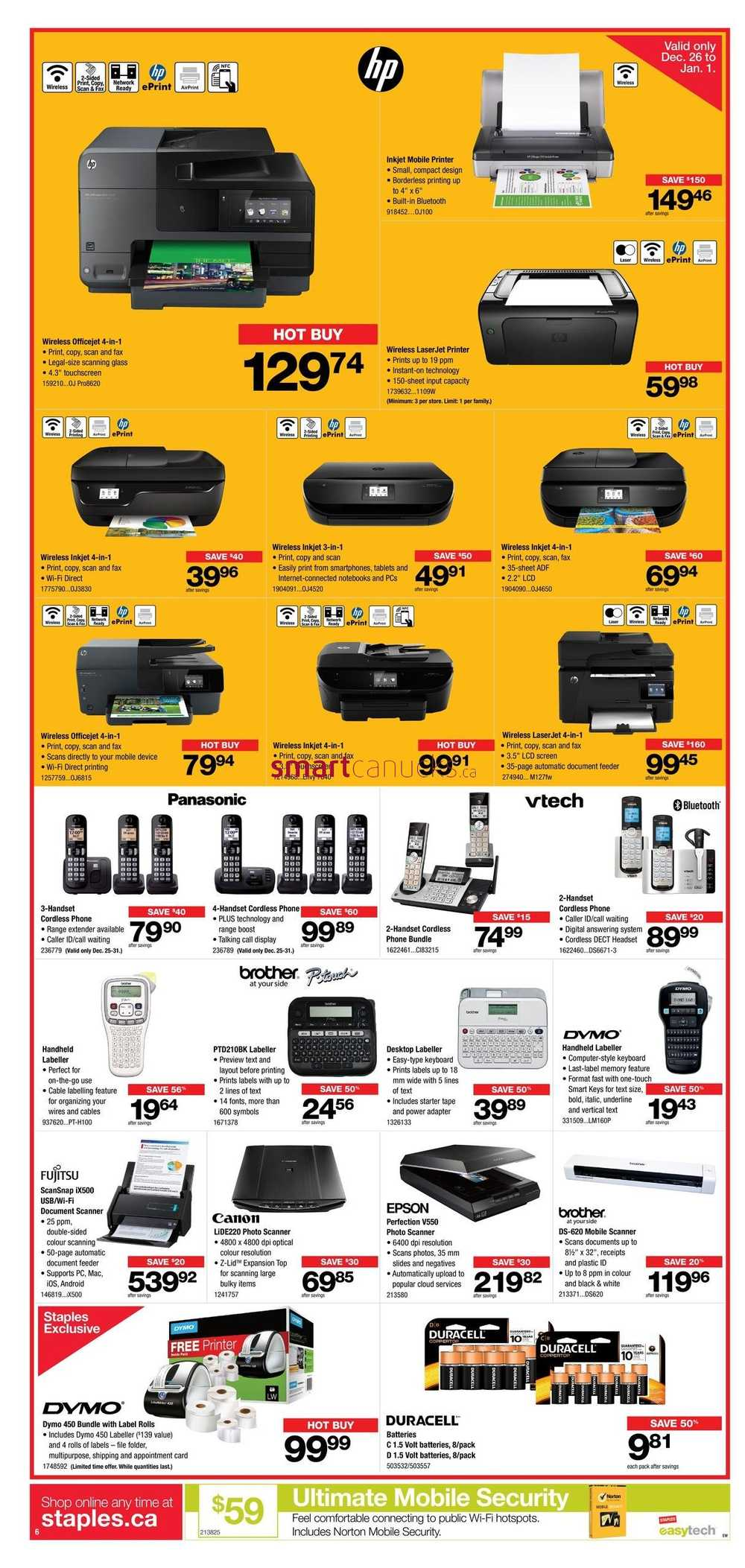Best deals at staples this week