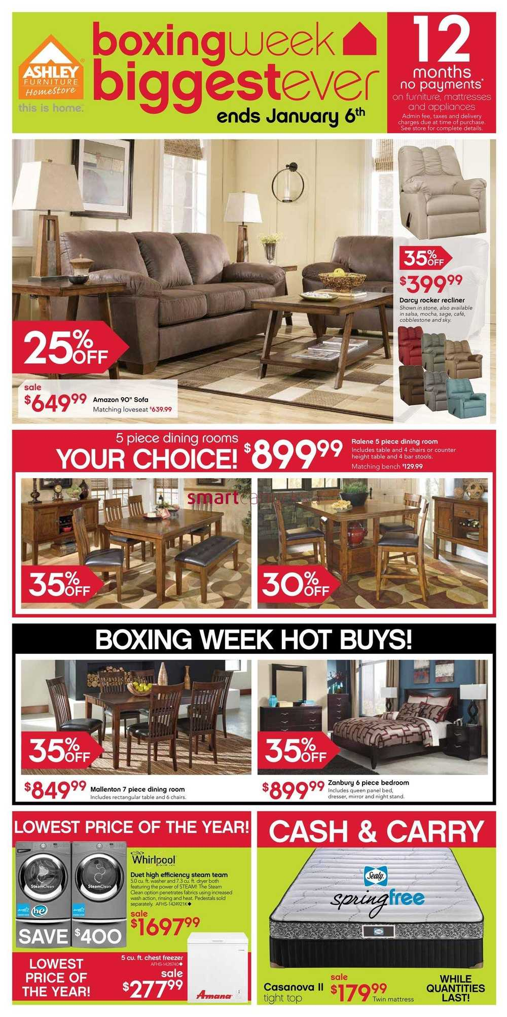Ashley Furniture Home Store West Flyer December 27 To