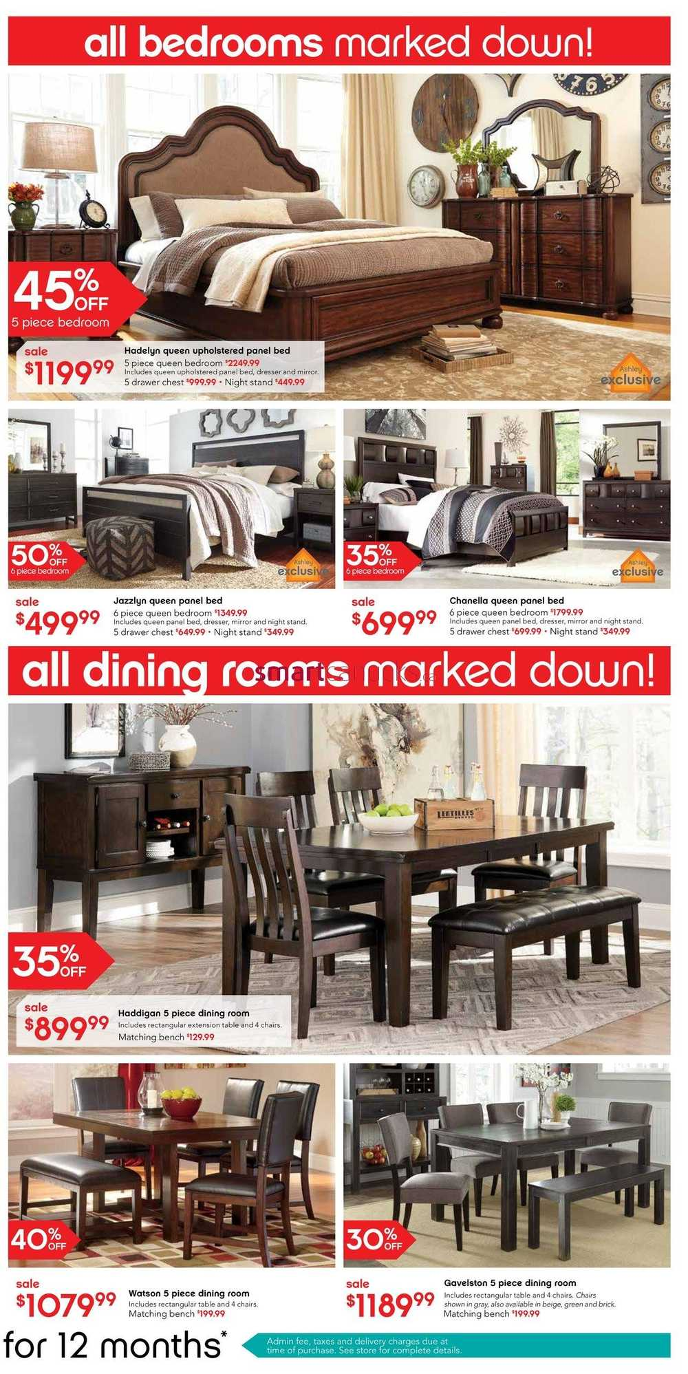 Ashley Furniture Home Store West Boxing Week Flyer