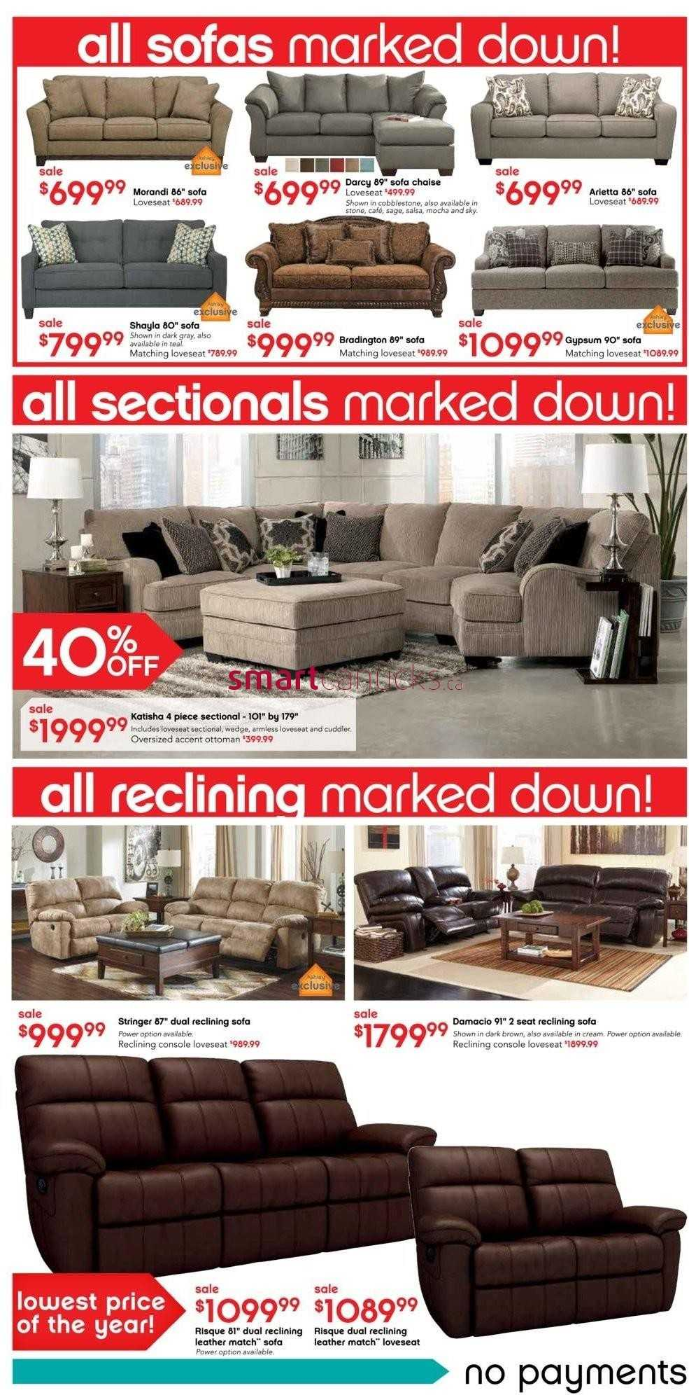 Ashley Furniture Home Store On Boxing Day Flyer December 26 27