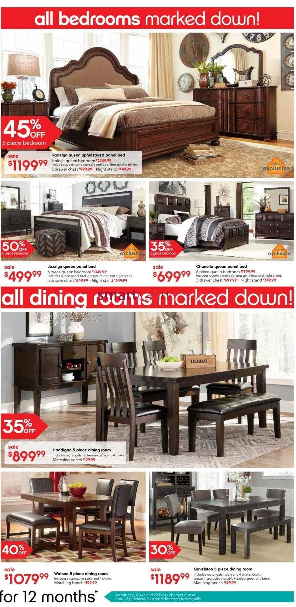 Ashley furniture home store on boxing day flyer december for Ashley furniture homestore canada