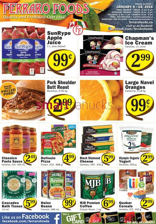 Ferraro Foods Flyer January 5 to 18