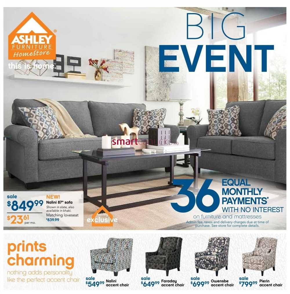 Ashley homestore canada flyers for Ashley furniture homestore canada