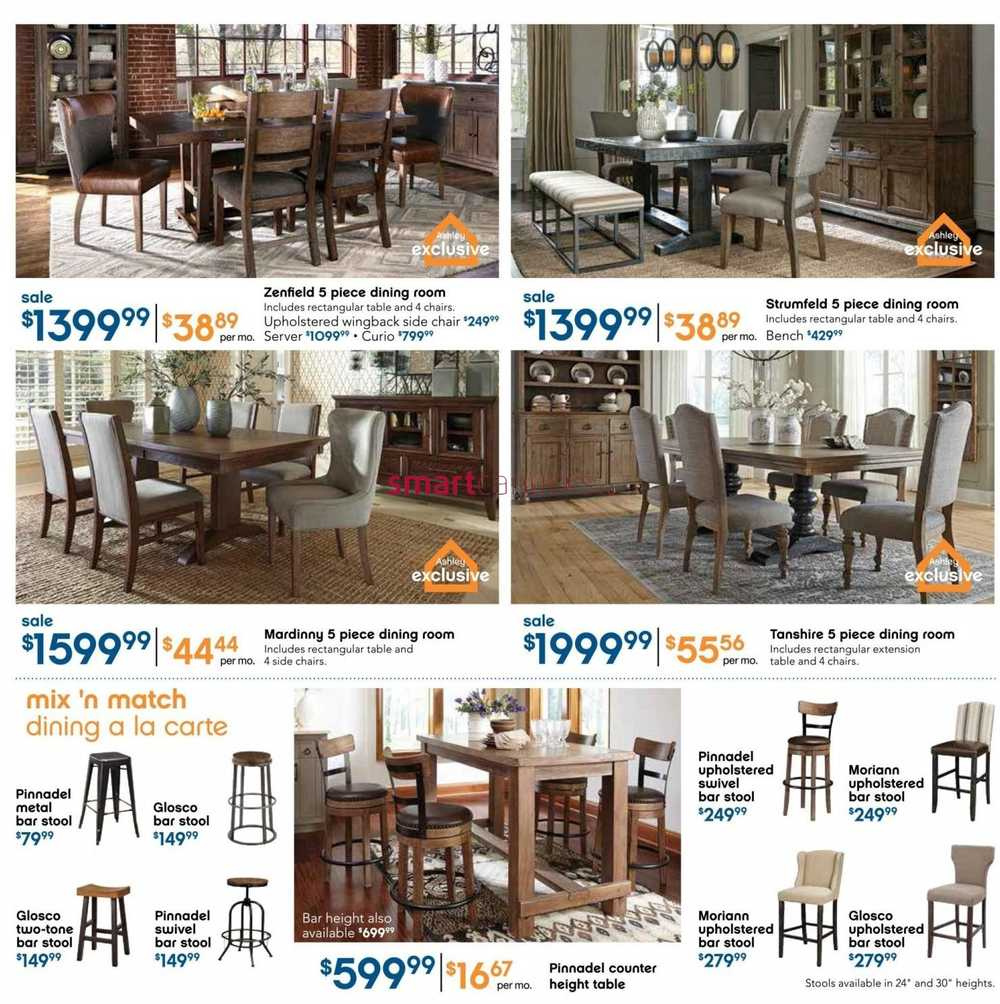 Ashley furniture homestore on flyer january 7 to 27 for P s furniture flyer