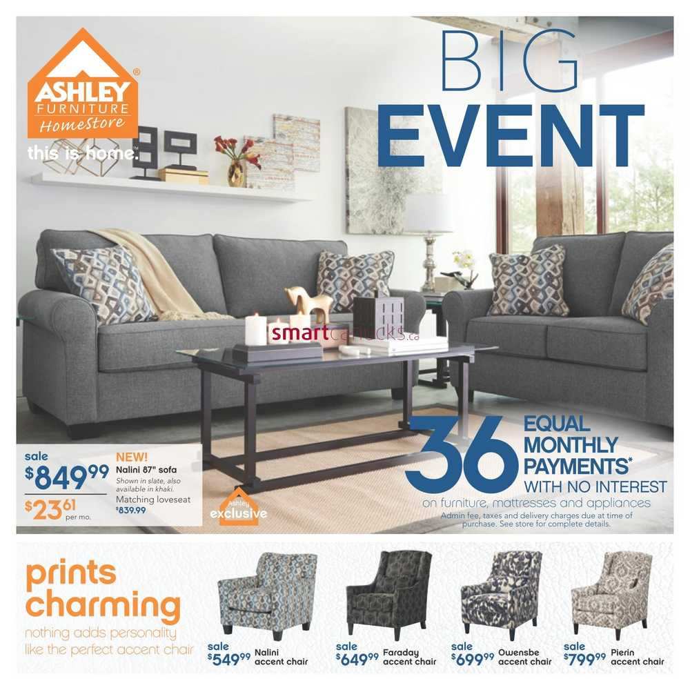 Ashley furniture homestore west flyer january 7 to 27 for Ashley homestore canada