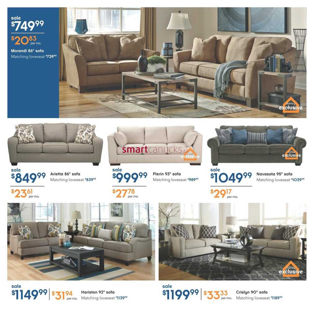 Ashley furniture homestore west flyer january 7 to 27 for Ashley furniture homestore canada