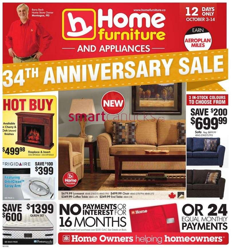 Home Furniture Flyer Oct 3 To 14
