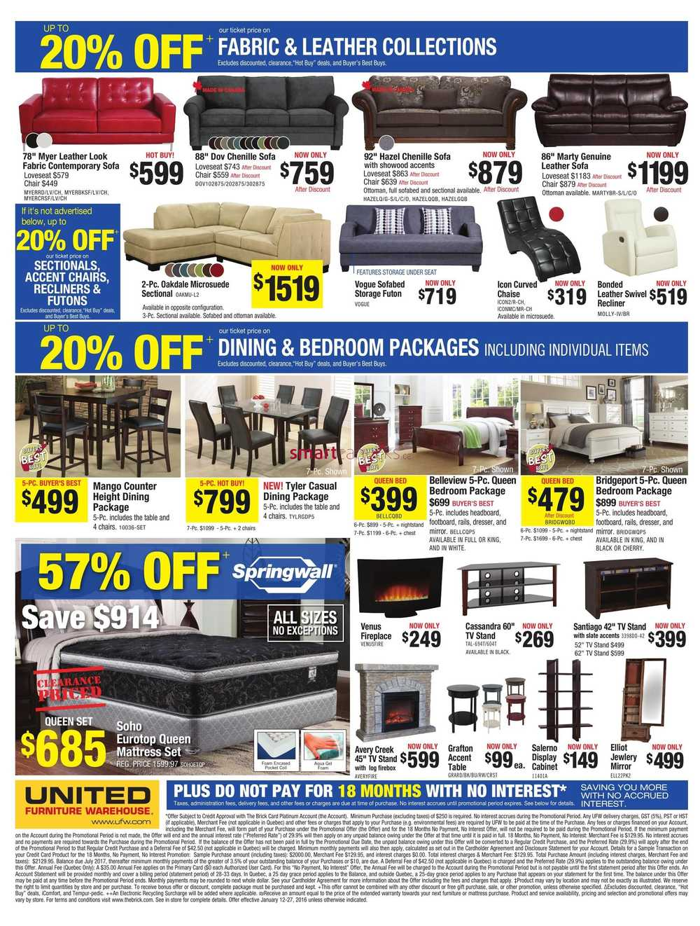 United Furniture Warehouse Flyer January 12 To 27