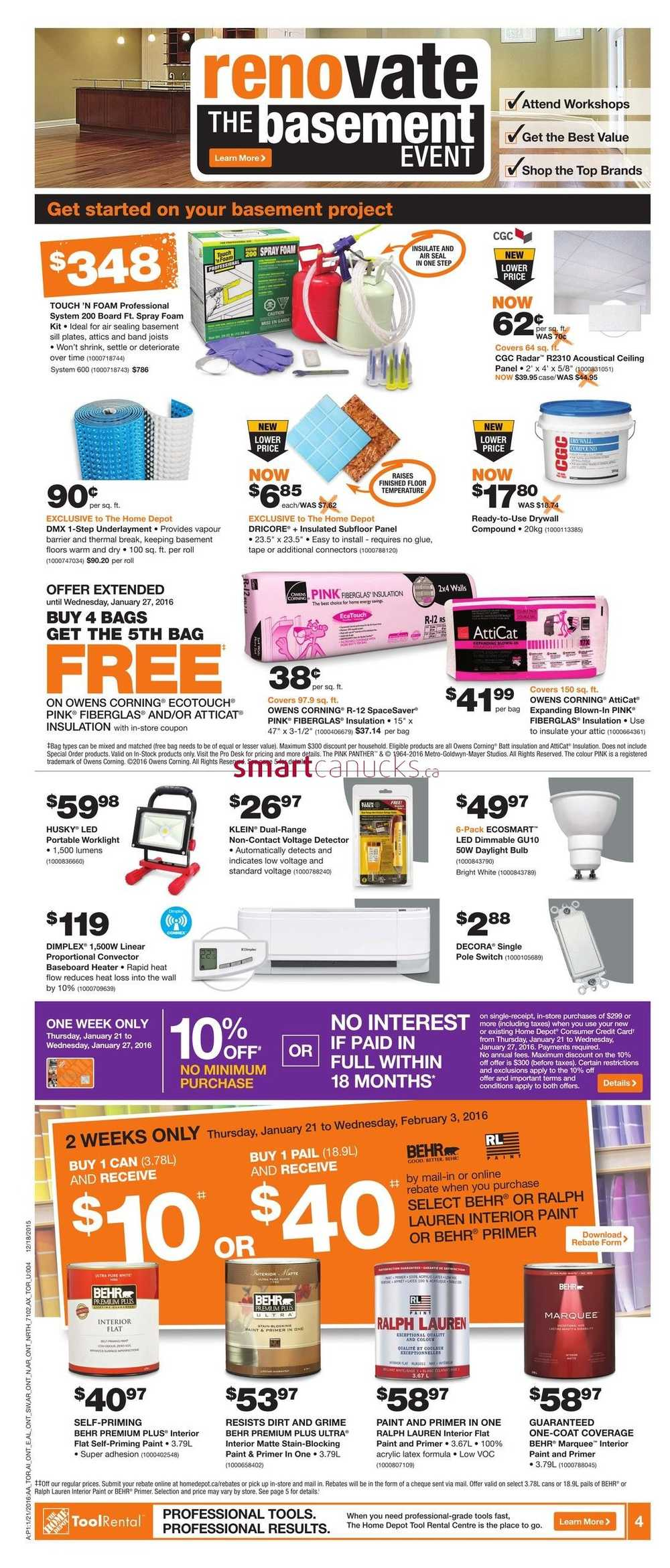 Home Depot In Canada Flyer