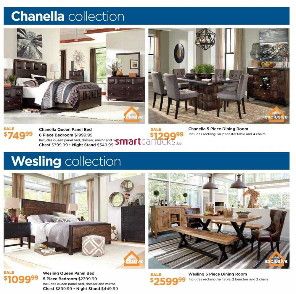 Ashley furniture homestore on flyer february 3 to 24 for Ashley homestore canada