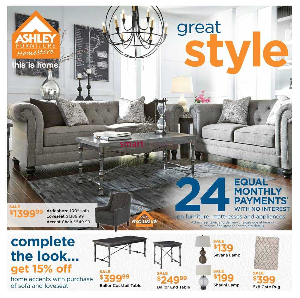Ashley furniture homestore west flyer february 4 to 24 for Ashley homestore canada
