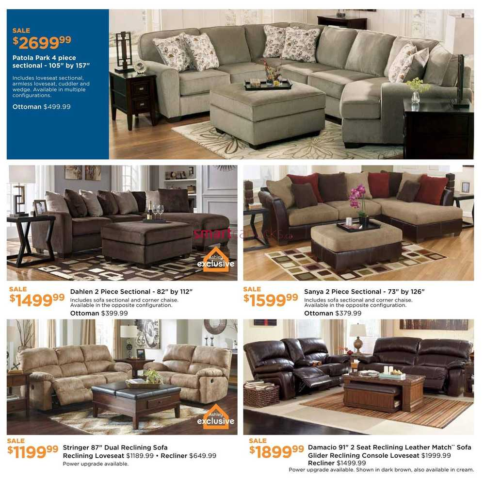 Ashley furniture homestore west flyer february 4 to 24 for Ashley furniture homestore canada