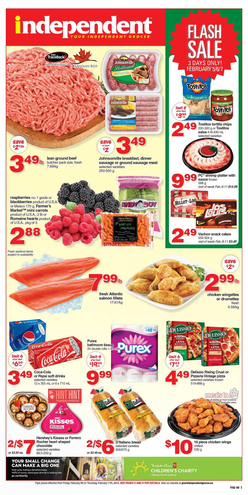 Independent grocer west flyer february 5 to 11 for Achat carrelage pas cher