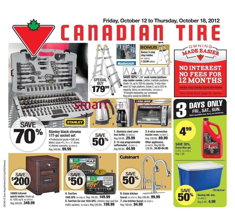 Canadian Tire Flyer Oct