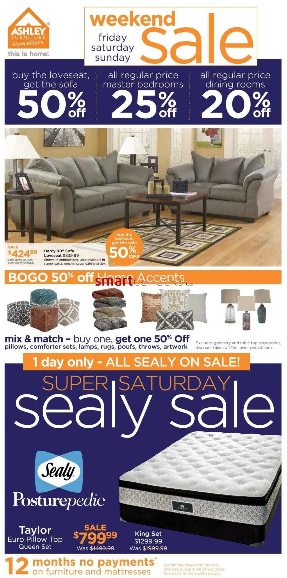 Ashley Furniture HomeStore ON Weekend Sale Flyer