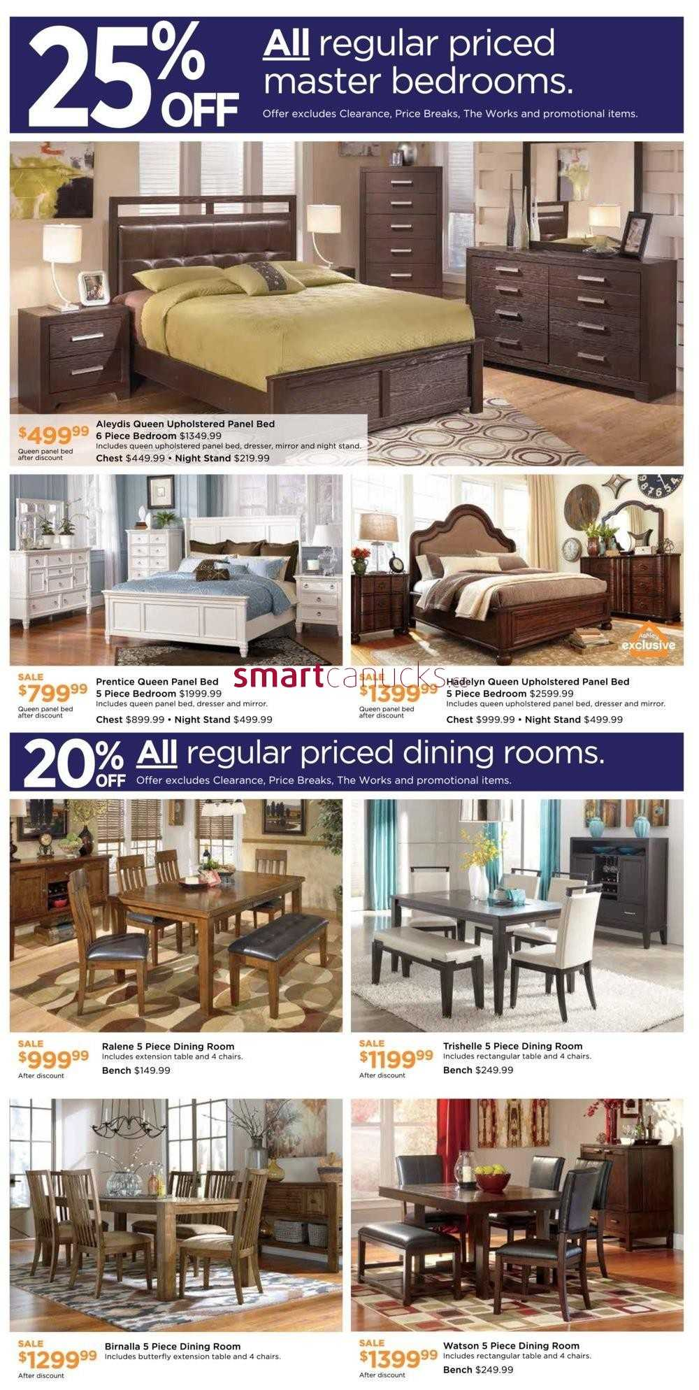 Ashley furniture homestore on weekend sale flyer for Ashley furniture homestore canada