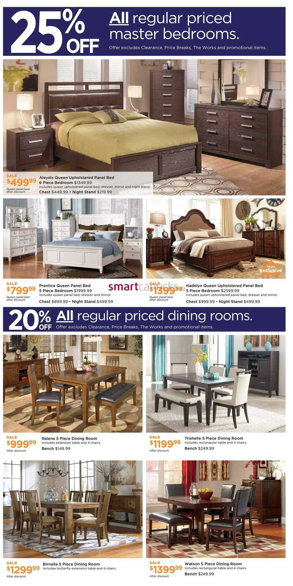 Ashley Furniture HomeStore West Weekend Sale Flyer