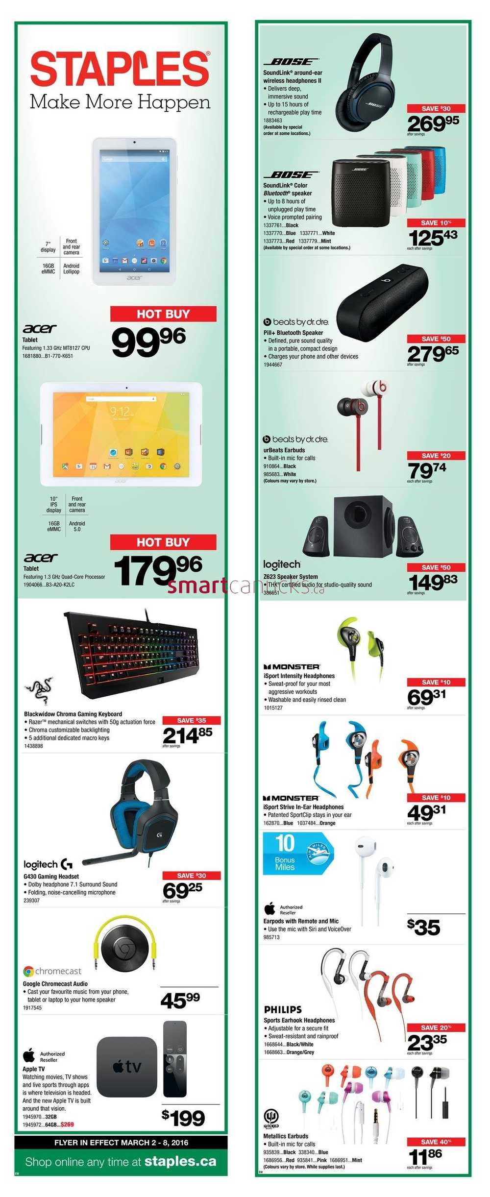 staples flyer march 2 to 8
