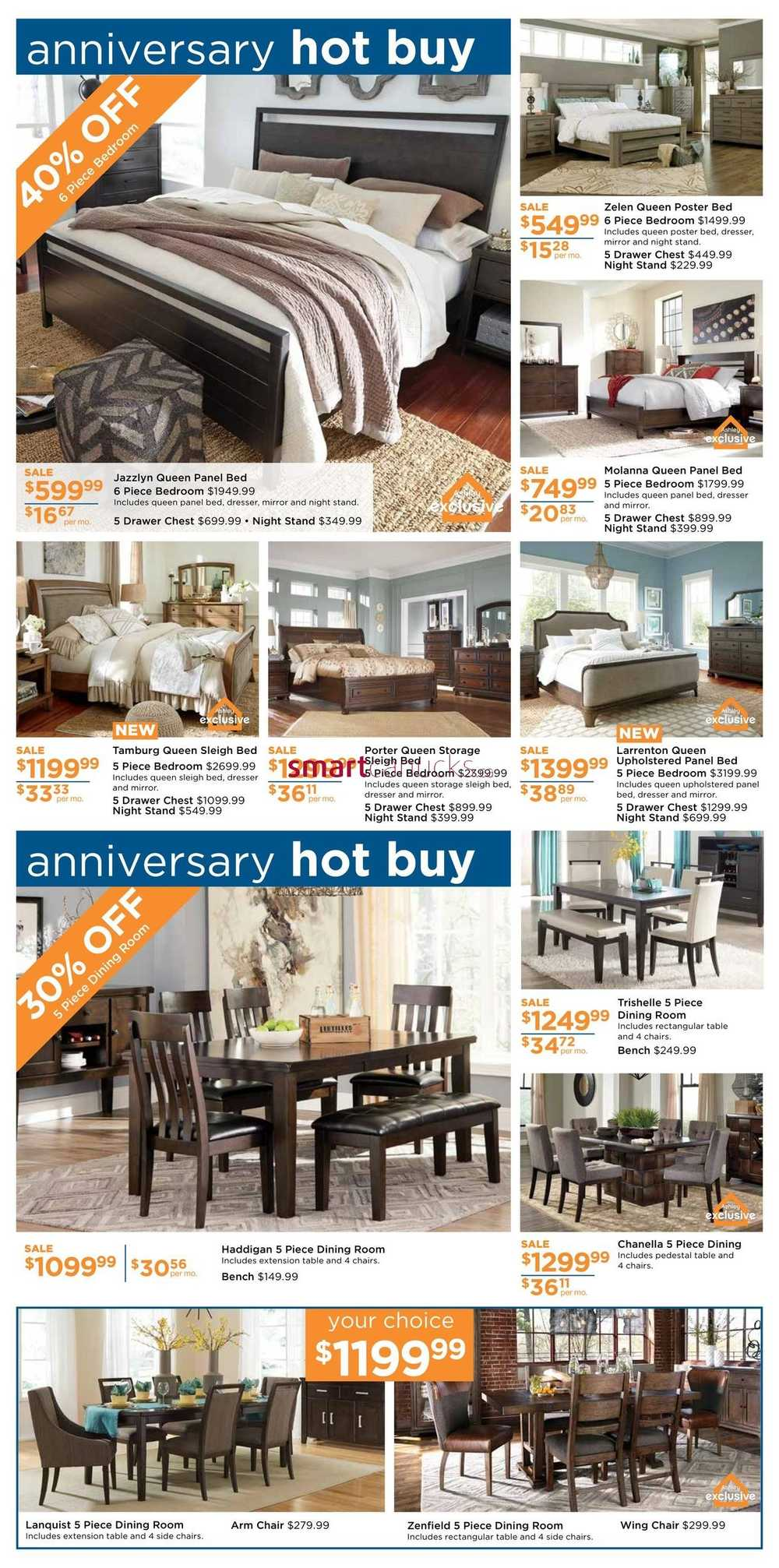 Ashley furniture homestore west flyer march 1 to 23 for Ashley furniture homestore canada