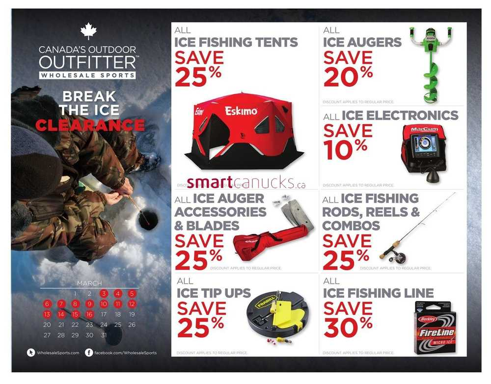 Wholesale Sports Outfitters Canada Flyers
