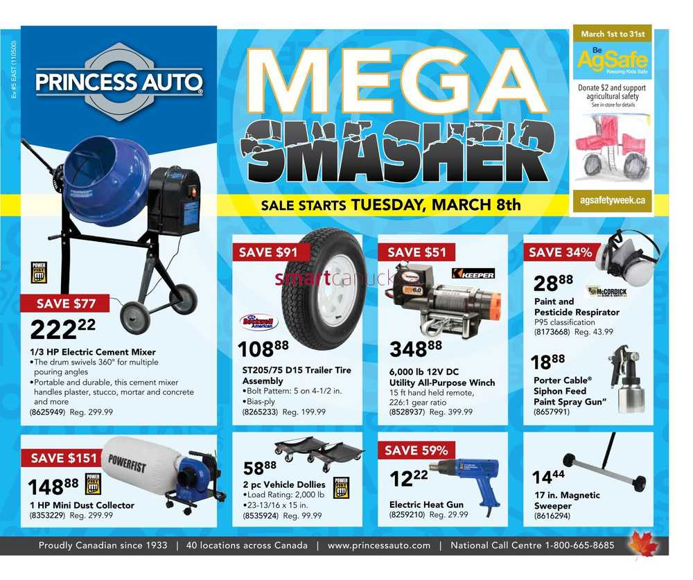 princess auto flyer march 8 to 20. Black Bedroom Furniture Sets. Home Design Ideas