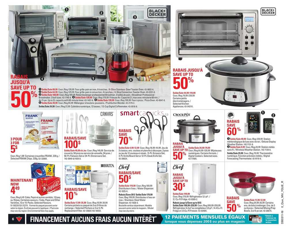 Uncategorized Canadian Tire Kitchen Appliances canadian tire qc flyer march 11 to 17