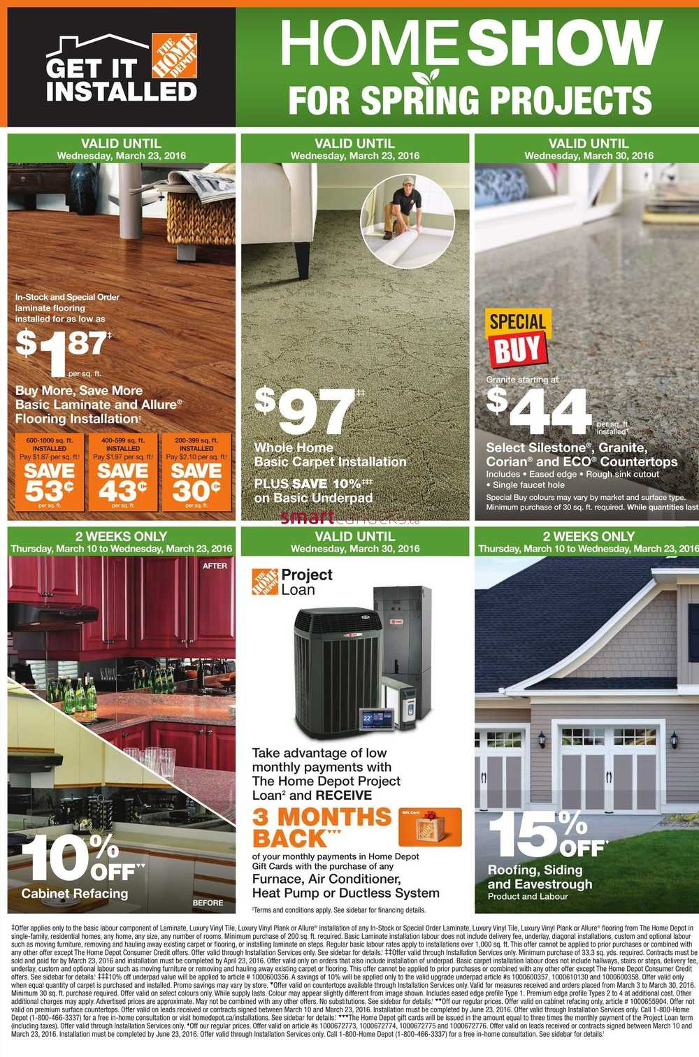 Home Depot On Flyer March 10 To 16