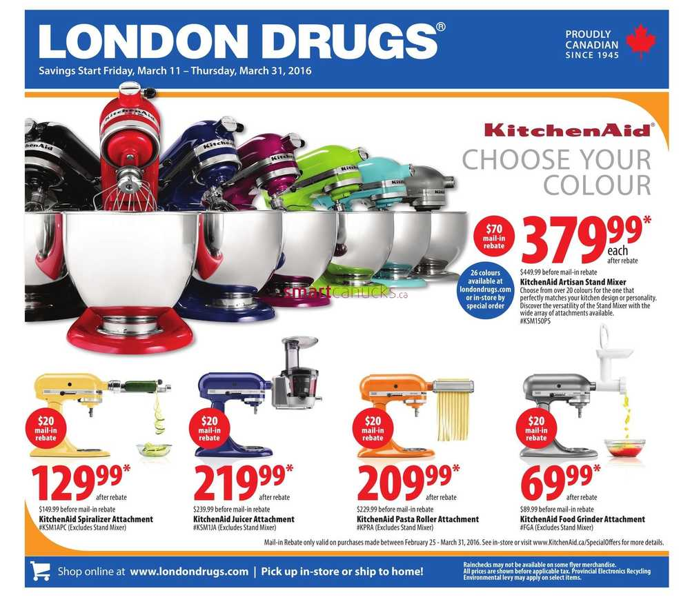 Coloured Kitchen Appliances London Drugs Small Kitchen Appliances Flyer March 11 To 31