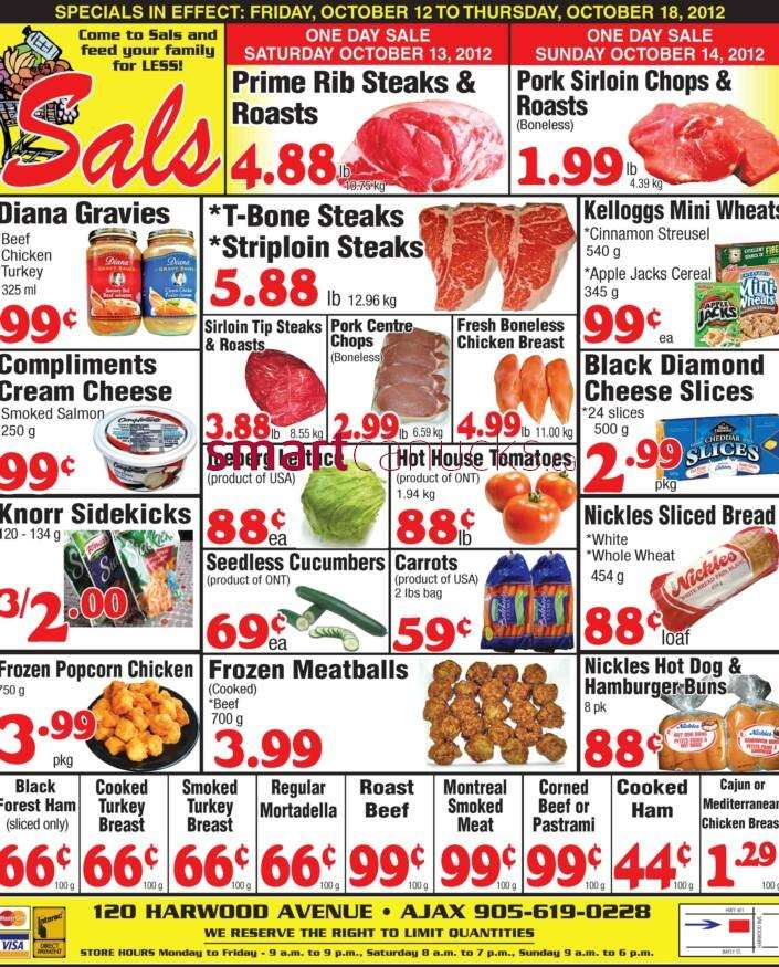 Sal's Grocery flyer Oct 12 to 18