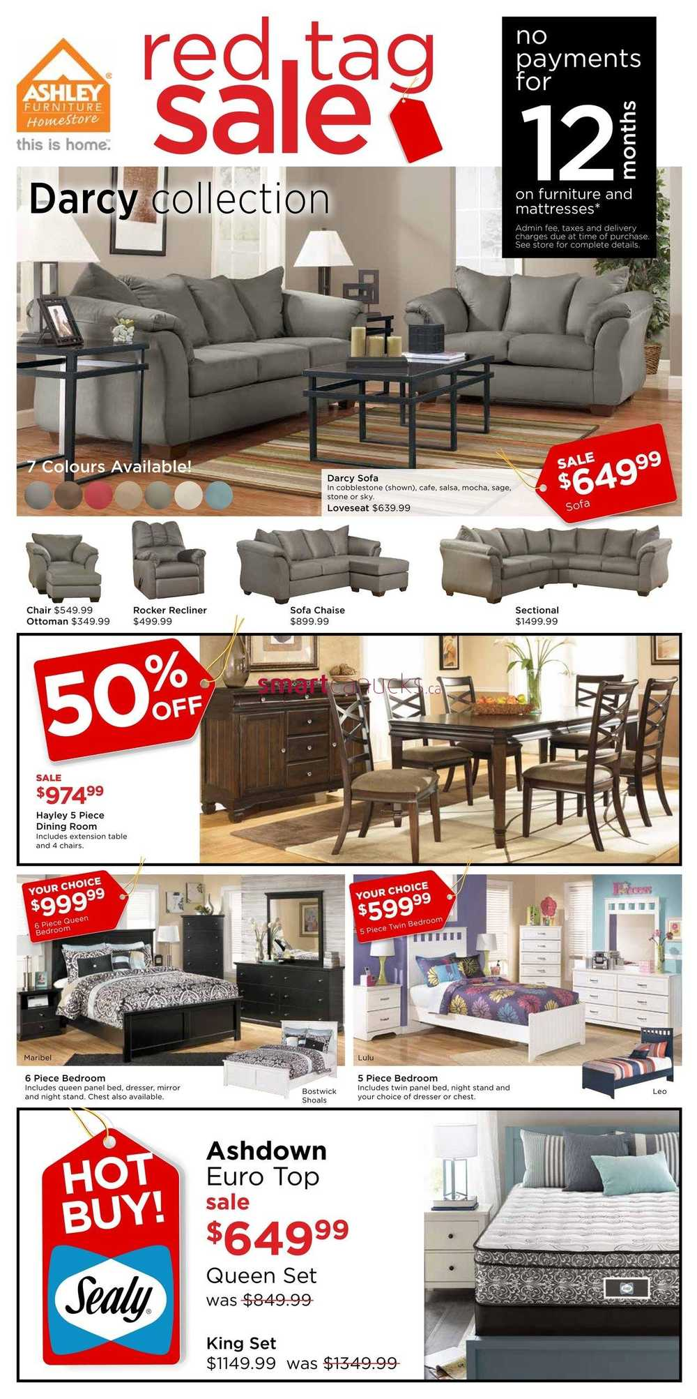 Ashley furniture homestore on flyer march 24 to april 3 for Home shop 24