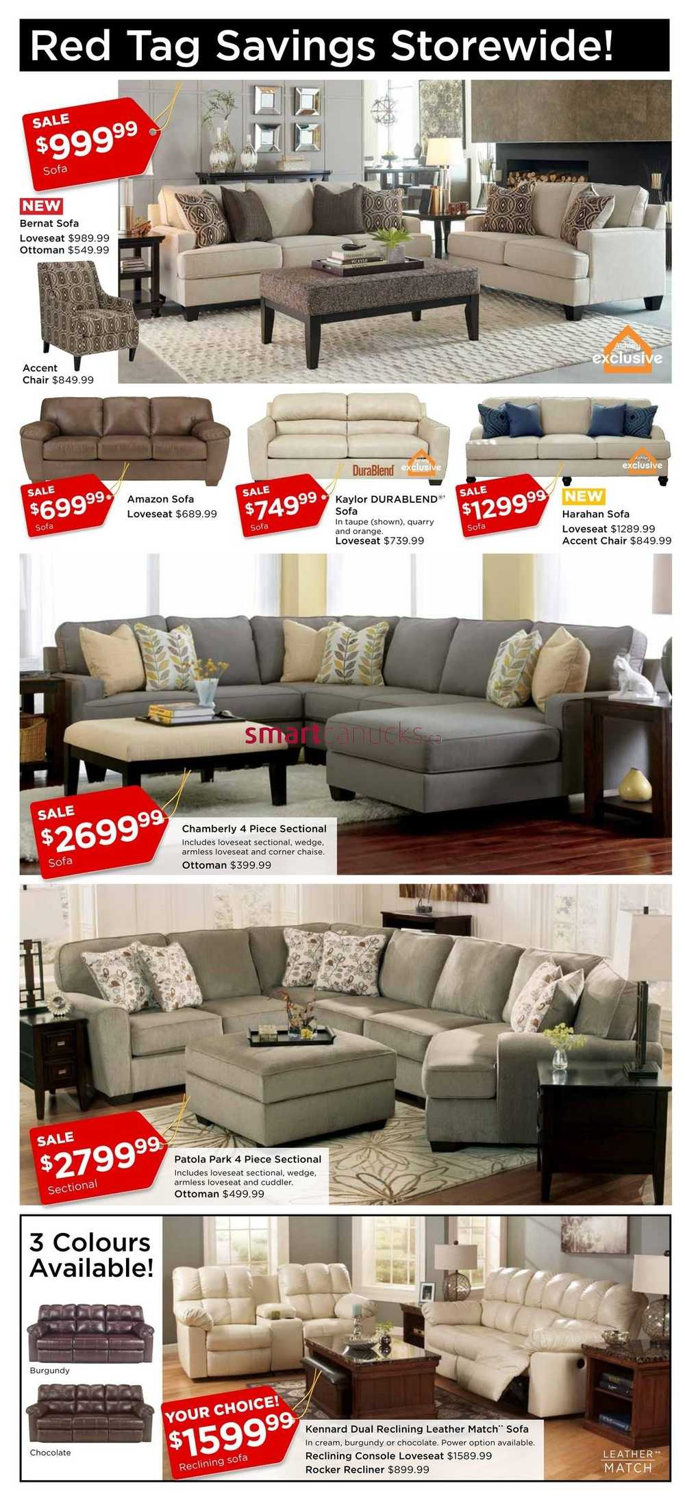 Ashley Furniture Homestore West Flyer March 24 To April 3