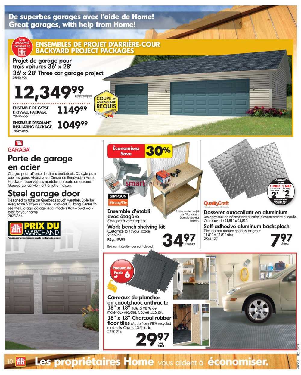 Home hardware building centre qc flyer march 30 to april 9 for Home hardware garage packages