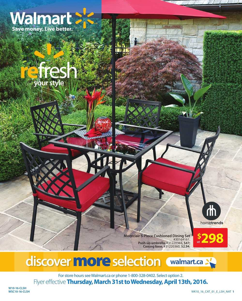 Walmart Patio, BBQ & Accessories Flyer March 31 to April 13
