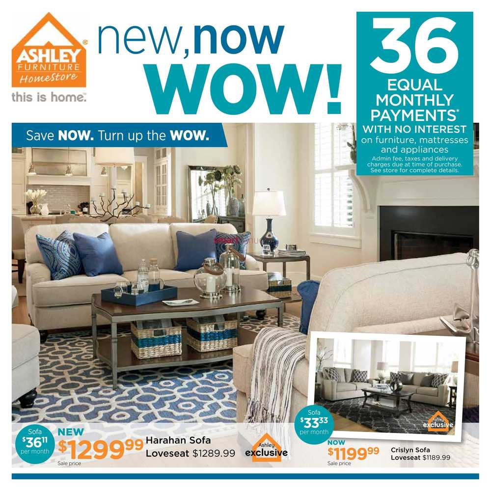 Ashley furniture homestore west flyer april 5 to 24 for Ashley furniture homestore canada
