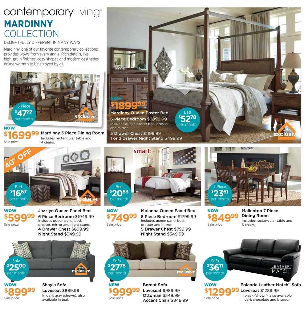 Ashley furniture homestore west flyer april 5 to 24 for Home shop 24