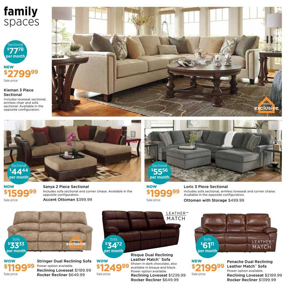 Ashley Furniture HomeStore West Flyer April 5 to 24