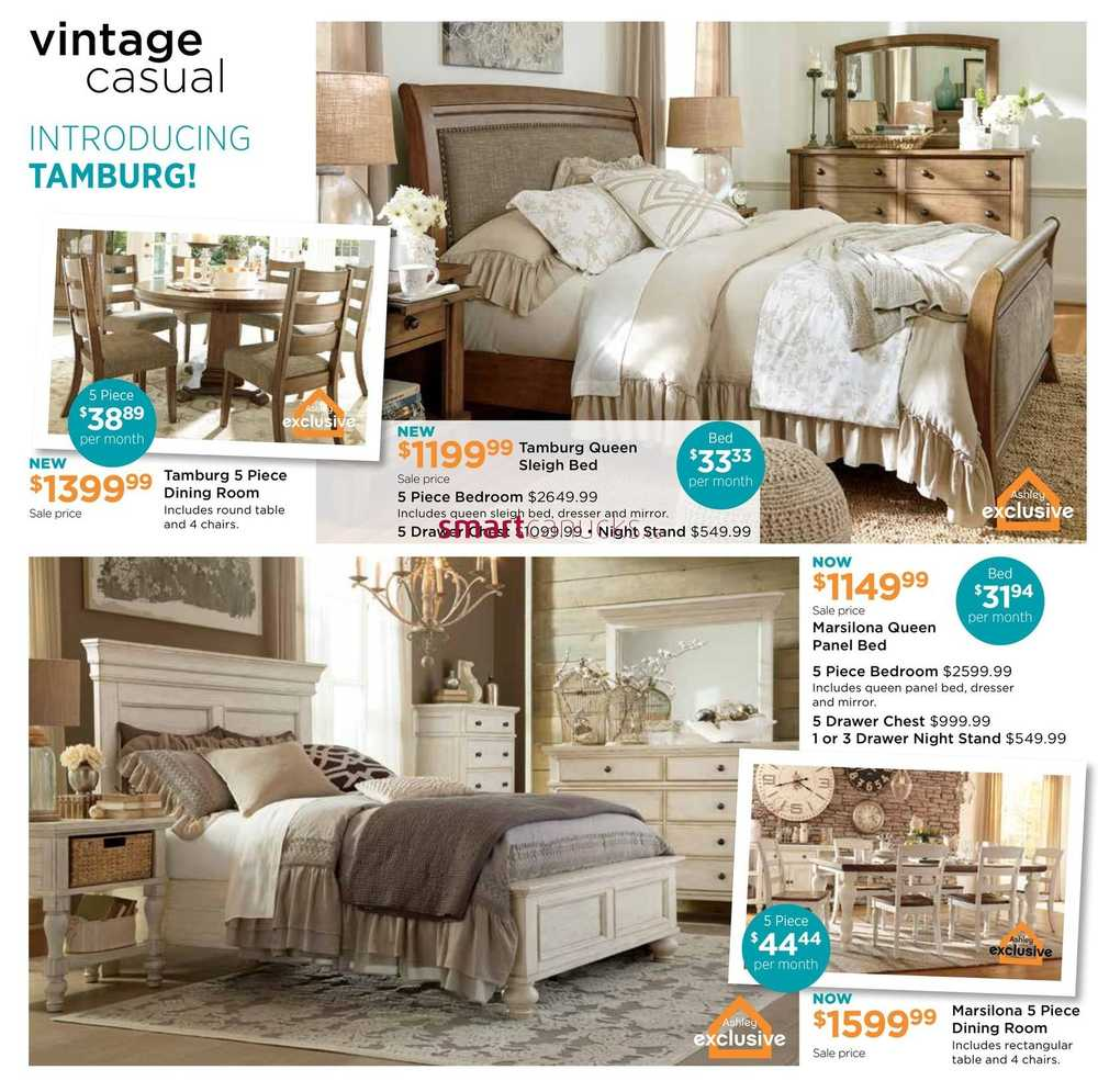 Ashley furniture homestore on flyer april 5 to 24 for Ashley furniture homestore canada