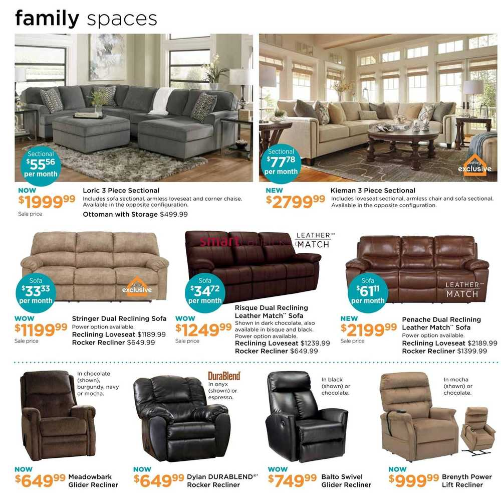 Ashley furniture homestore on flyer april 5 to 24 for P s furniture flyer