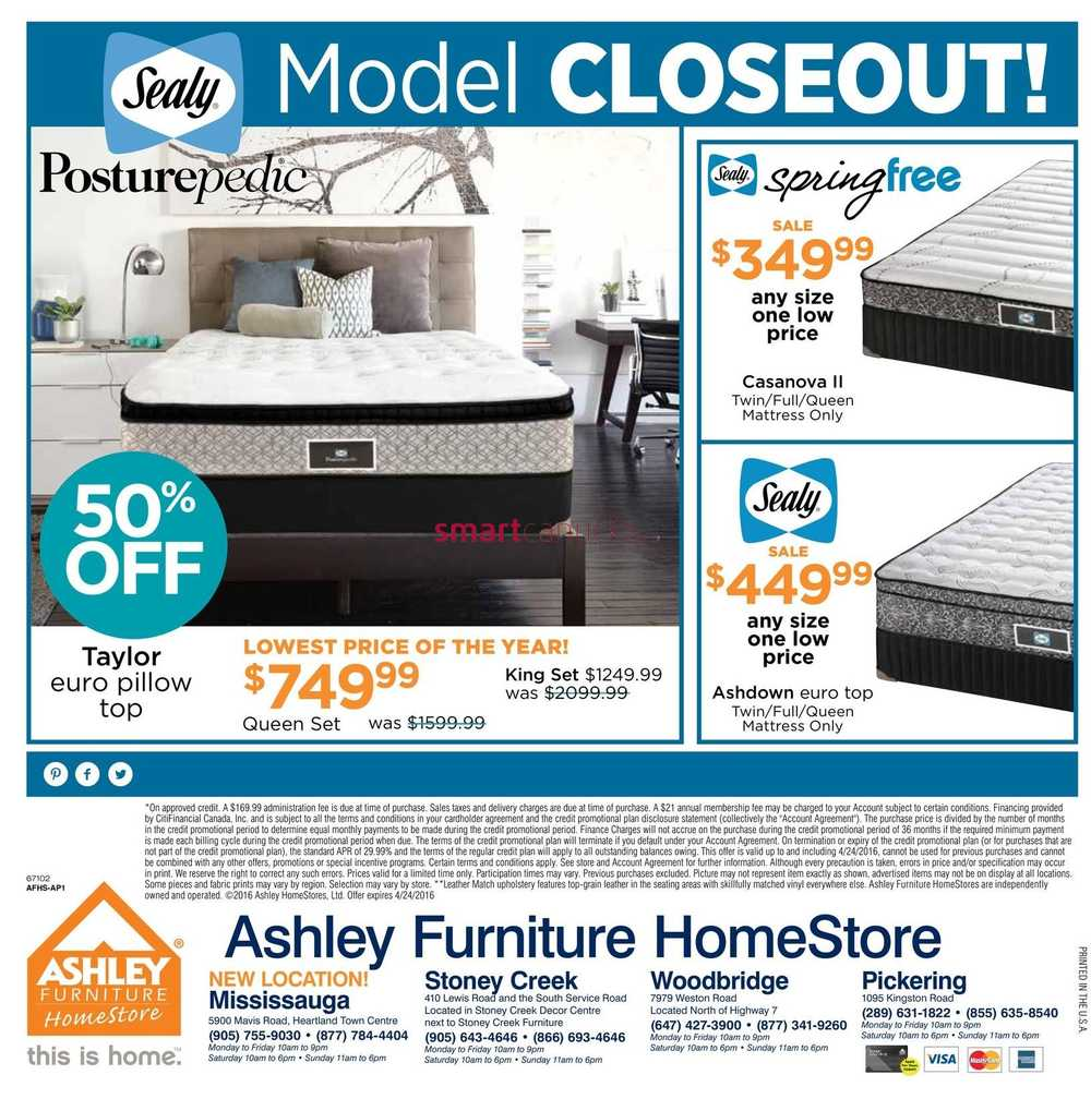 Ashley Furniture HomeStore ON Flyer April 5 to 24