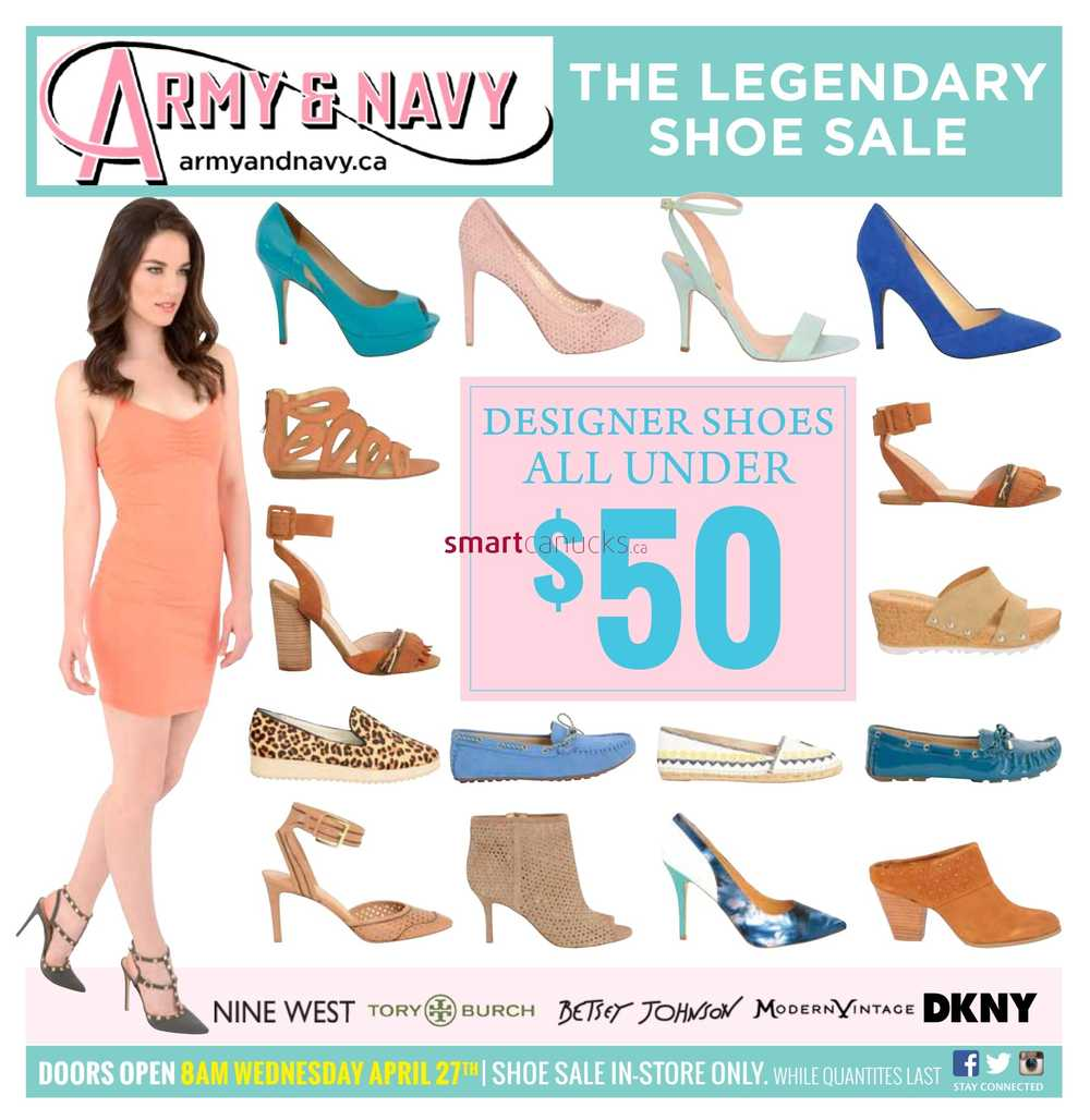Army And Navy Shoe Sale  Flyer