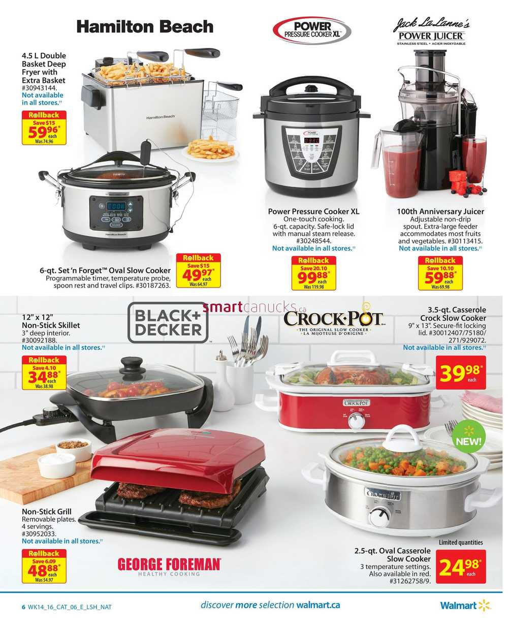 Walmart Canada Small Appliances Flyer April 28 To May 11